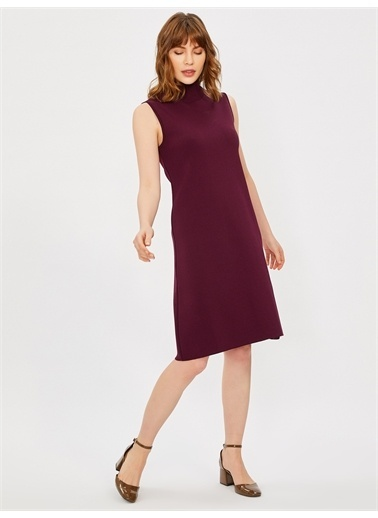 Vekem-Limited Edition Elbise Mürdüm